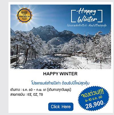 Happy Winter เที่ยวเกาหลี สุดคุ้ม