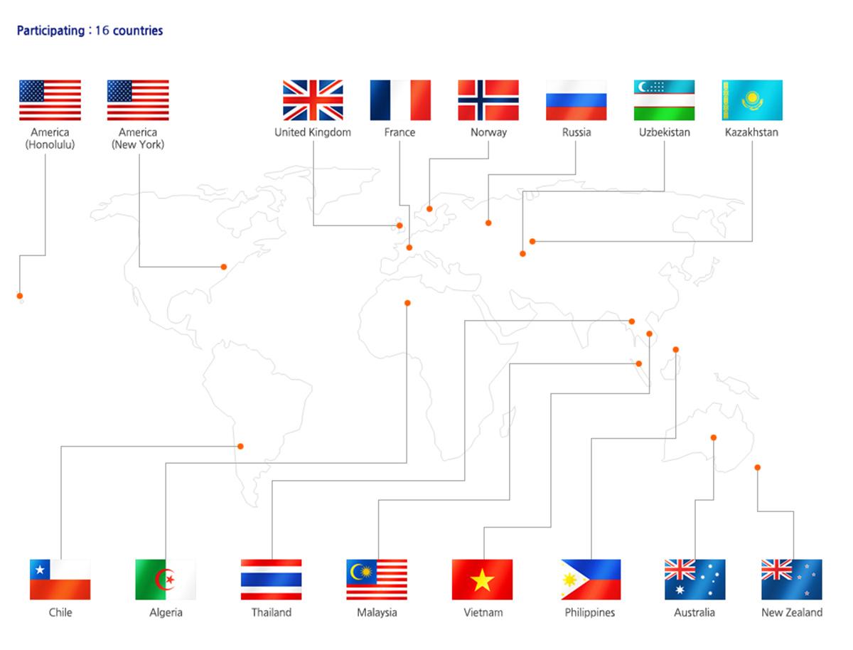 ประเทศที่เข้าแข่ง Global Taste of Korea Contest